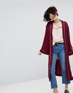 Атласный пиджак-кимоно J.O.A - Красный J.O.A.