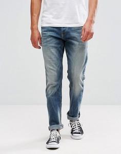 Выбеленные джинсы классического кроя Tom Tailor - Синий