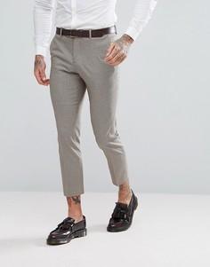 Коричневые укороченные брюки скинни в клетку River Island - Коричневый