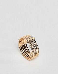 Многорядное кольцо на мизинец ASOS - Золотой
