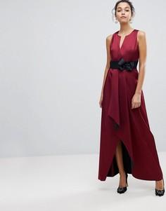 Платье макси с запахом и бантом Ted Baker - Красный