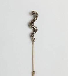 Булавка на лацкан со змеей Reclaimed Vintage Inspired эксклюзивно для ASOS - Золотой