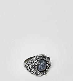 Кольцо с полудрагоценным синим камнем Reclaimed Vintage Inspired эксклюзивно для ASOS - Серебряный