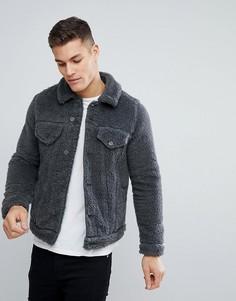 Серая меланжевая куртка в стиле вестерн ASOS - Серый