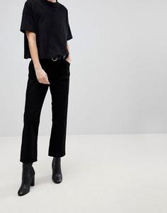 Укороченные расклешенные джинсы Dr Denim - Черный
