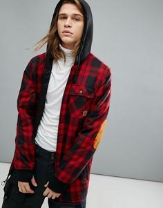 Куртка в клетку из утепленной фланели DC Shoes Snow Backwoods - Красный