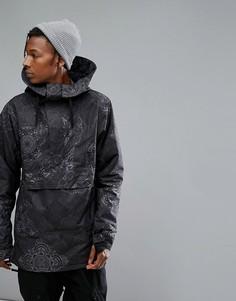 Черная горнолыжная куртка с принтом и капюшоном Armada Rankin - Черный