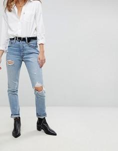 Рваные джинсы скинни с завышенной талией Levis 501 - Синий Levis®