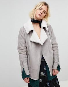 Байкерская куртка-дубленка New Look - Серый