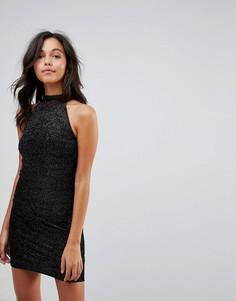 Бархатное вечернее платье New Look - Черный