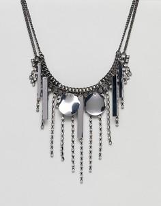 Броское ожерелье Weekday - Серебряный Asos