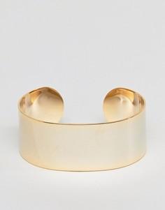 Широкий браслет-манжета ограниченной серии - Золотой Asos