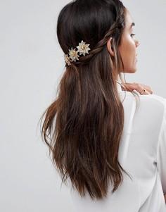 Украшение для волос ограниченной серии с цветами - Золотой Asos