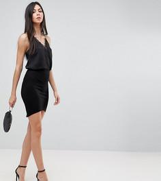 Мини-юбка с асимметричным подолом ASOS TALL - Черный
