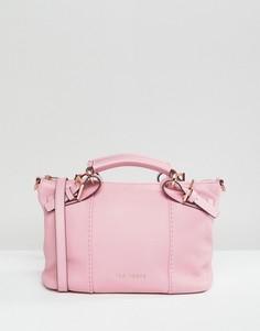 Кожаная сумка-тоут Ted Baker - Розовый