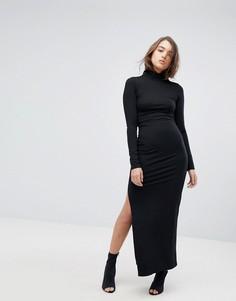 Платье макси с высоким воротом G-Star - Черный