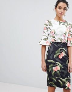 Платье миди с принтом Ted Baker Areea - Черный