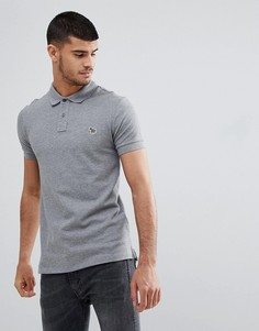 Серая меланжевая облегающая футболка-поло PS Paul Smith - Серый