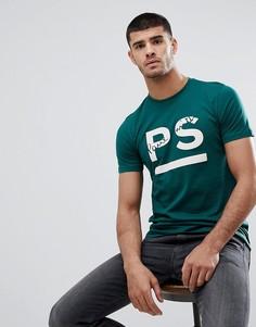 Зеленая футболка узкого кроя с логотипом PS Paul Smith - Зеленый