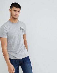 Серая меланжевая футболка узкого кроя с логотипом-зеброй PS Paul Smith - Серый