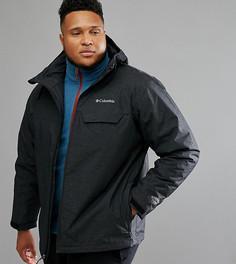 Черная непромокаемая куртка с капюшоном Columbia PLUS Huntsville Peak - Черный