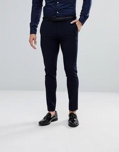 Темно-синие брюки скинни River Island - Темно-синий