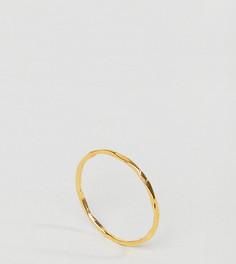 Кольцо из позолоченного серебра ASOS CURVE - Золотой