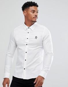 Белая облегающая рубашка Gym King - Белый