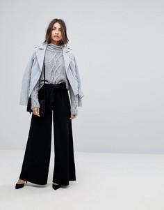 Широкие брюки с завышенной талией Y.A.S - Черный