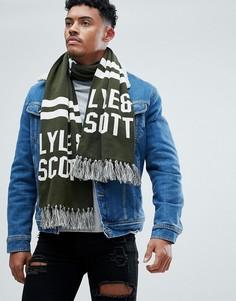 Зеленый шарф с логотипом Lyle & Scott - Зеленый
