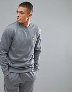 Серый меланжевый свитшот из флиса Lyle & Scott Fitness Thompson - Серый