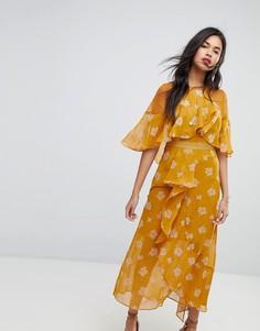 Платье миди с оборками Stevie May - Мульти