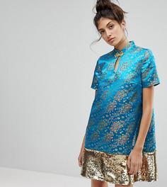 Платье с пайетками Reclaimed Vintage Inspired - Синий