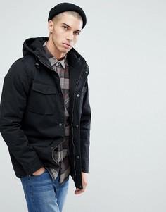 Куртка с капюшоном и 4 карманами Brave Soul - Черный
