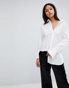 Длинная рубашка с асимметричным краем Gestuz - Белый