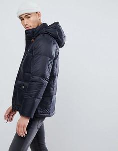 Черная дутая куртка с капюшоном Abercrombie & Fitch - Черный
