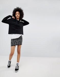 Жаккардовая мини-юбка New Look - Черный