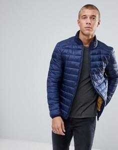 Темно-синяя дутая куртка River Island - Темно-синий
