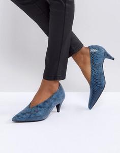 Туфли с эффектом змеиной кожи Gestuz - Синий