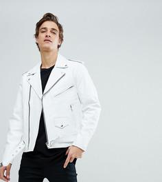 Кожаная байкерская куртка Reclaimed Vintage Inspired - Белый