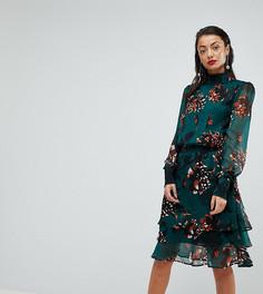 Платье с длинными рукавами Y.A.S Tall - Зеленый