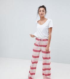 Пижамные брюки в клетку Vero Moda Tall - Кремовый