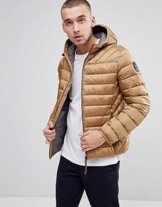 Бежевая стеганая куртка с капюшоном Napapijri - Бежевый