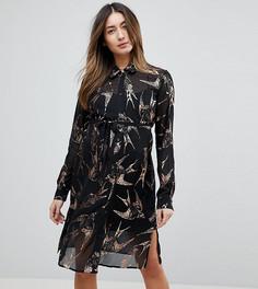 Платье-рубашка с принтом Mamalicious - Мульти Mama.Licious