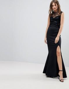 Платье макси с пайетками Lipsy - Черный