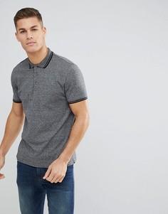 Серая меланжевая футболка-поло с короткими рукавами Burton Menswear - Серый