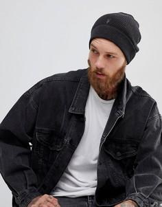 Черная шапка-бини AllSaints Trias - Черный