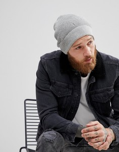 Светло-серая шапка-бини AllSaints Trias - Серый