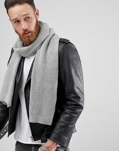 Светло-серый шарф AllSaints Trias - Серый