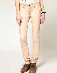 Однотонные джинсы скинни Denham - Розовый